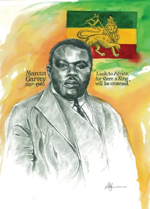 Portrait of Marcus Garvey