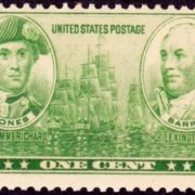 Stamp dedicated to John Paul Jones