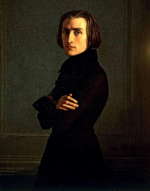 A. Lehmann. Portrait of Franz Liszt, 1839