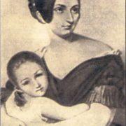 Carolyne von Sayn-Wittgenstein with her daughter, 1840
