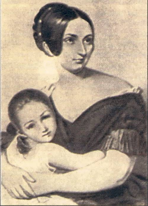 Carolyne von Sayn-Wittgenstein with her daughter, 1840