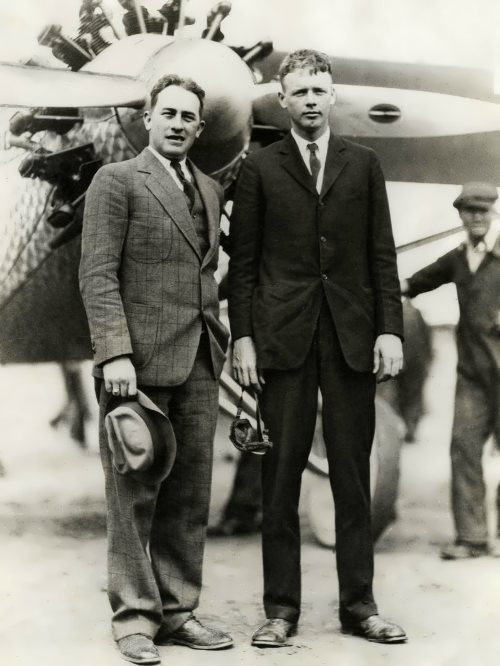 Charles Lindbergh with the president of Pan American Airways