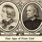 Four ages of Franz Liszt