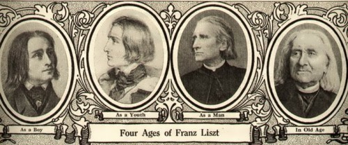 Four ages of Franz Liszt