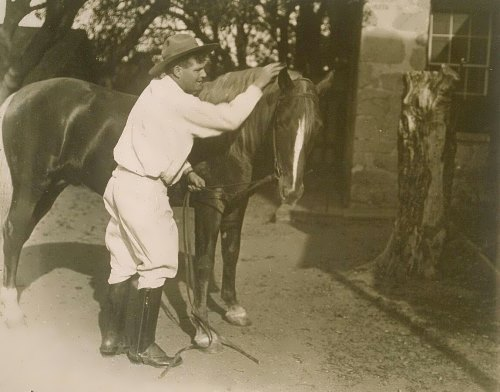Jack London with a horse