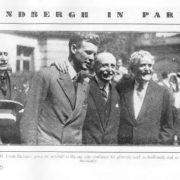Louis Bleriot and Charles Lindbergh, 1927