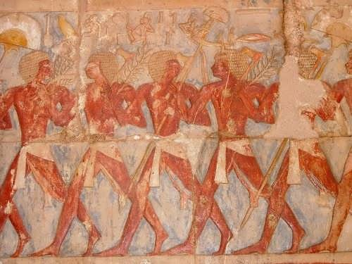 Painting in the temple of Hatshepsut