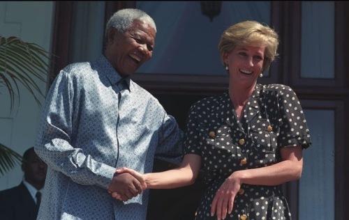 Princess Diana and Nelson Mandela