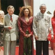 Spice Girls and Nelson Mandela