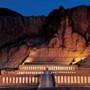 Temple of Hatshepsut at night