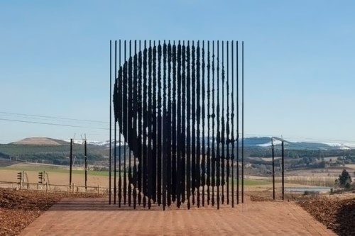 The monument of Nelson Mandela by Marco Cianfanelli