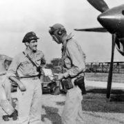 Thomas McGuire and Charles Lindbergh, 1944