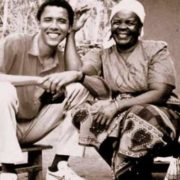 Barack Obama and his grandmother