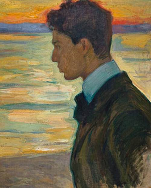 Boris Pasternak in 1910 in the picture of Leonid Pasternak