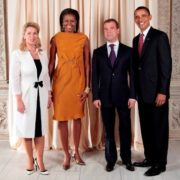 Dmitriy Medvedev, Barack Obama and their wives