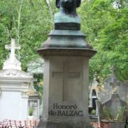 Gravestone on the tomb of Balzac