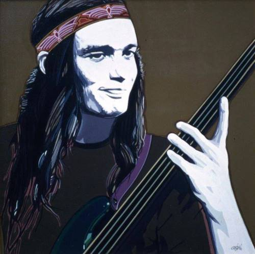Interesting fan art. Jaco Pastorius