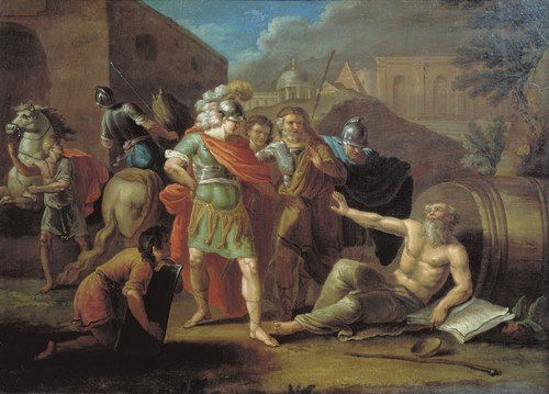 Ivan Filippovich Tupylev. Alexander and Diogenes