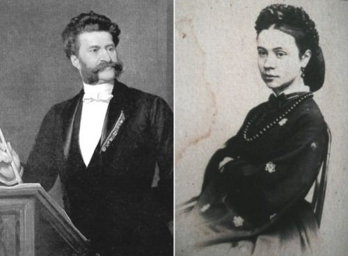 Johann Strauss and Olga Smirnitskaya