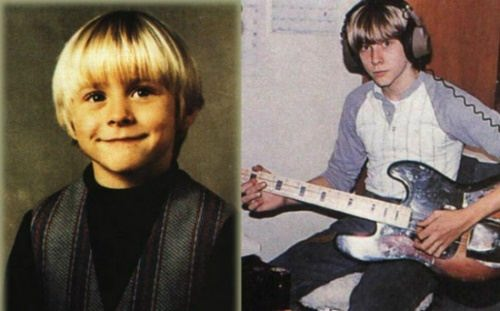 Kurt Cobain in his childhood