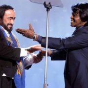Luciano Pavarotti and James Brown