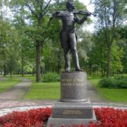 Monument to Strauss in Pavlovsk