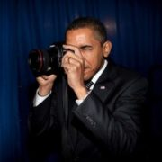 Obama is taking photo