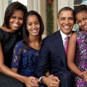 Obama with his family