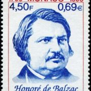 Post stamp dedicated to Balzac