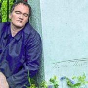Quentin tarantino at the grave of Boris Pasternak