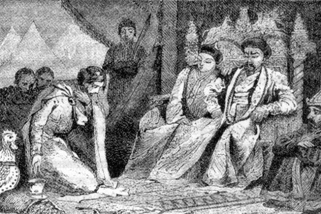 Alexander Nevsky in the tent of Khan Baty