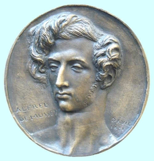 Alfred de Musset on the coin
