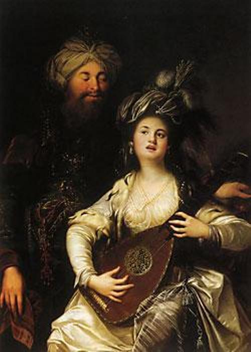 Anton Hickel. 1780. Rosolana and Suleiman