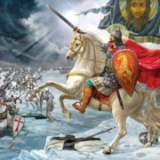 Prince Alexander Nevsky at the Battle on the Ice