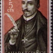 Stamp dedicated to Lope de Vega