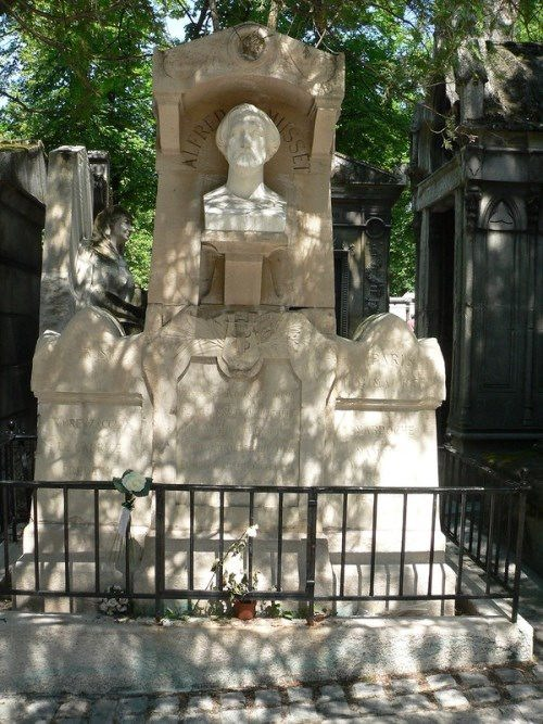 Tomb of Alfred de Musset, sculpted by Auguste Barre