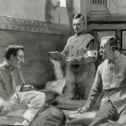 Arthur Conan Doyle in the field hospital during the Boer War