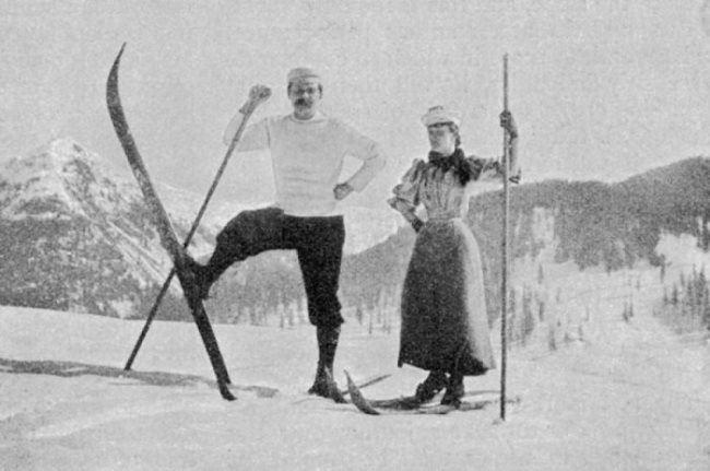 Arthur Conan Doyle is skiing