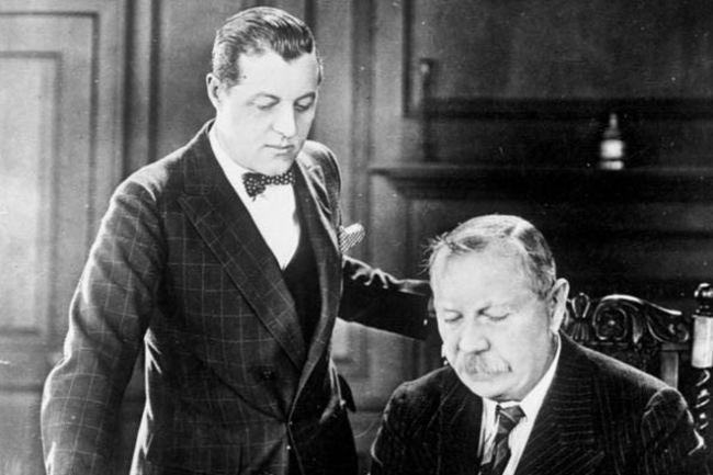 Arthur Conan Doyle with his son Adrian
