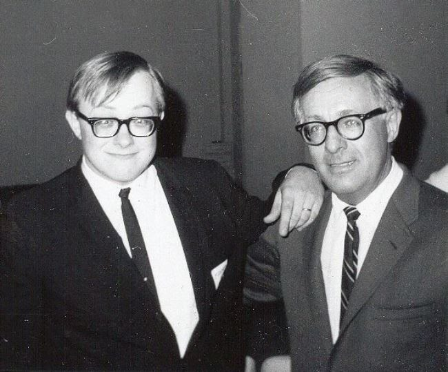 Bill Warren and Ray Bradbury. 1967