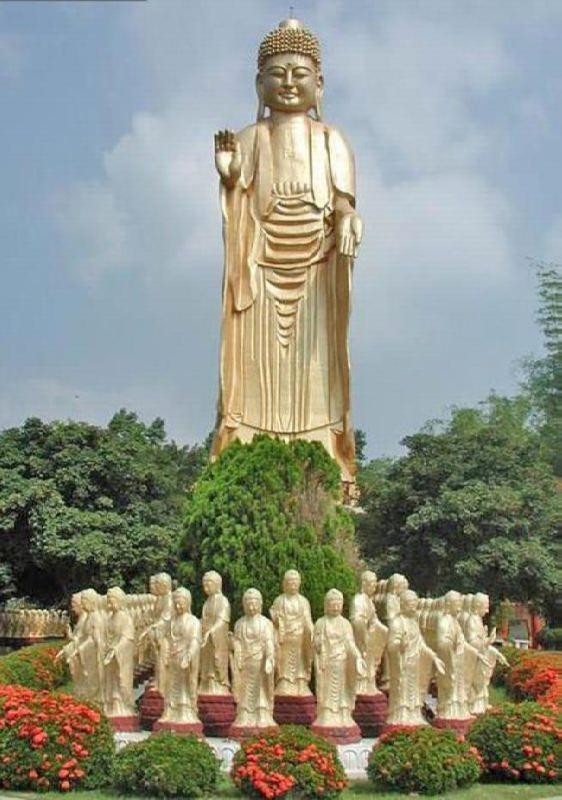 Buddha statue in Fo Guang Shan monastery, Taiwan