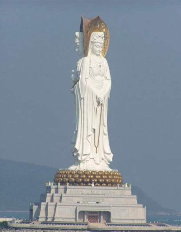 Buddha statue in Hainan, China