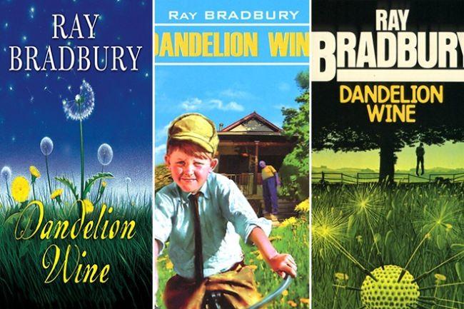 Covers of Ray Bradbury's novel Dandelion Wine