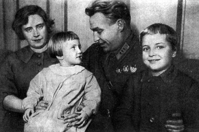 Famous Chkalov and his family