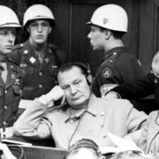 G. Göring and R. Hess at the Nuremberg Trials