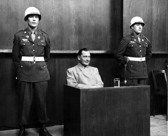 Göring at the Nuremberg Trials