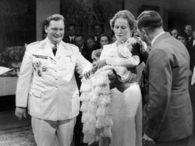 Goering with his family and Hitler