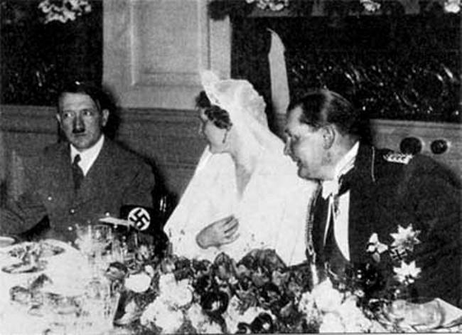 Hitler - guest of honor at the wedding of Goering and Emma Sonneman