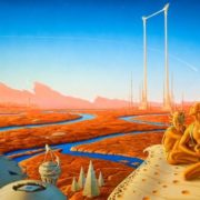 Illustration for Ray Bradbury's novel The Martian Chronicles