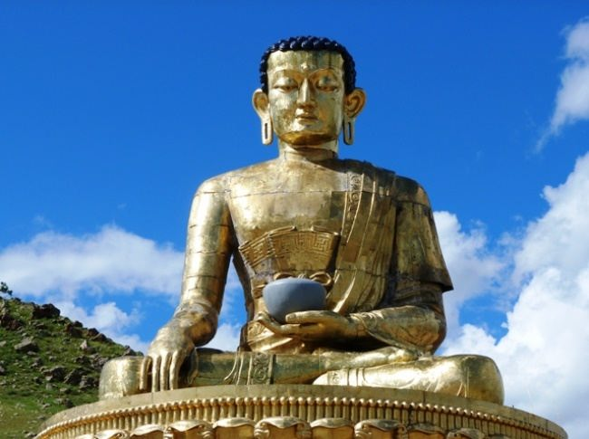 Monument to Buddha in Erdenate, Mongolia